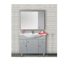 """ארון אמבטיה עומד פורמייקה דגם פארן כולל כיור ומראה מידה 105 ס""""מ"""