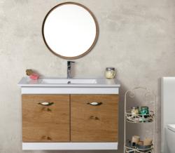 ארון אמבטיה תלוי דגם ברקן כולל כיור