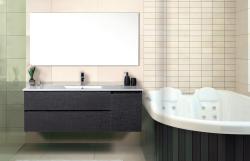 """ארון אמבטיה תלוי פורמייקה דגם שקד מידה 100 ס""""מ כולל כיור"""