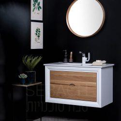 """ארון אמבטיה תלוי ווד הנרי משולב במידות 60-120 ס""""מ"""