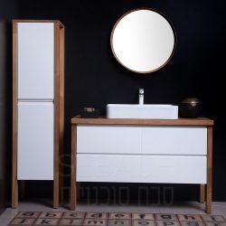 """ארון אמבטיה תלוי ווד מורין קיים במידות 80-150 ס""""מ"""