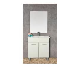 """ארון אמבטיה עומד פורמייקה דגם ירמוך פלוס כולל כיור מידה 90-100 ס""""מ"""