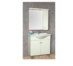 """ארון אמבטיה עומד פורמייקה דגם ירמוך כולל כיור ומראה מידה 105 ס""""מ"""