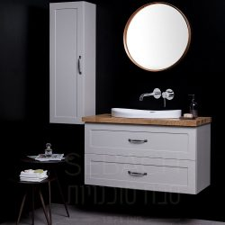 """ארון אמבטיה תלוי סילבר ליאון בוצ'ר 60-120 ס""""מ"""