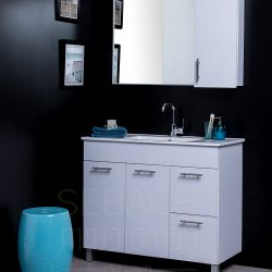 """ארון אמבטיה עומד קלאסיק לירון מידה 90-100 ס""""מ"""
