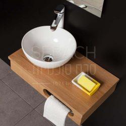 """ארון אמבטיה תלוי פרייבט מאסט 60 ס""""מ"""