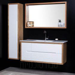 """ארון אמבטיה תלוי ווד מייקל קיים במידות 90-150 ס""""מ"""