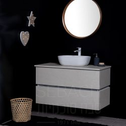 """ארון אמבטיה תלוי סיטי פריז 60-120 ס""""מ"""