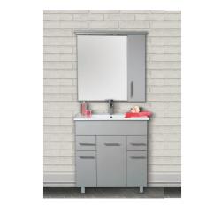 ארון אמבטיה עומד פורמייקה דגם פארן פלוס מידה 100 כולל כיור ומראה