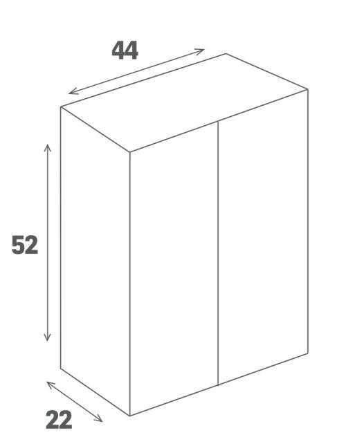 """ארון אמבטיה תלוי אפוקסי דגם ניו-יורק 44 ס""""מ כולל כיור ומראר"""