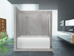 אמבטיון דופן צד + קבוע ודלת הרמוניקה (לפי מידה)