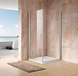 מקלחון פינתי מרובע שתי דלתות 80*70 מידה מיוחדת