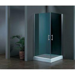 מקלחון פינתי שתי דלתות -זכוכית כהה