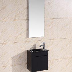 ארון אמבטיה תלוי סילבר +כיור זכוכית +ברז+מראה מרחפת גוף