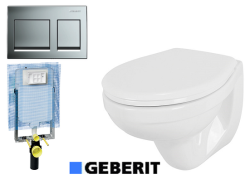 אסלה תלויה IDOL +מיכל הדחה סמוי GEBERIT לקיר בטון/בלוק +לחצן הפעלה GEBERIT