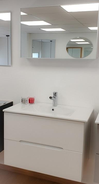 """ארון אמבטיה תלוי דגם אופק 100 ס""""מ כולל כיור ומראה"""