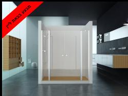 מקלחון חזית 2 קבועים 2 דלתות IN/OUT  מידה 150-155