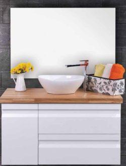 ארון אמבטיה תלוי דגם איתן בוצ'ר כולל כיור ומראה
