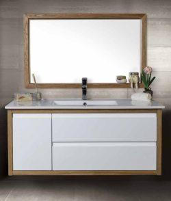 ארון אמבטיה תלוי אפוקסי דגם משי כולל כיור ומראה