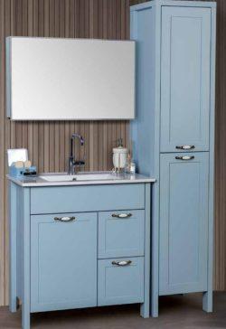 ארון אמבטיה אפוקסי דגם גמלא כולל כיור ומראה