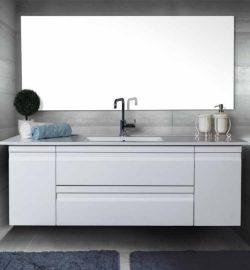 ארון אמבטיה אפוקסי תלוי דגם יוגב כולל כיור ומראה
