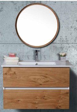ארון אמבטיה תלוי אפוקסי דגם לביא כולל כיור ומראה