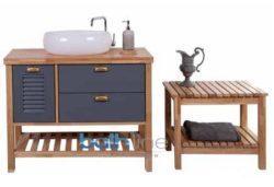 ארון אמבטיה עומד אפוקסי דגם עומר כולל כיור מראה
