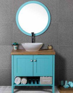 ארון אמבטיה אפוקסי עומד דגם פטרה כולל כיור ומראה