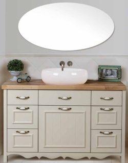 ארון אמבטיה אפוקסי עומד דגם פרובנס בוצ'ר כולל כיור מונח ומראה