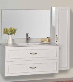 ארון אמבטיה אפוקסי תלוי דגם אורי כולל כיור ומראה