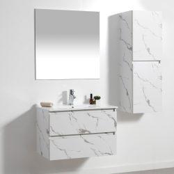ארון אמבטיה תלוי פורמייקה דגם CALO קלקתא לבן כולל כיור ומראה
