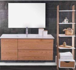 ארון אמבטיה תלוי אפוקסי דגם אוהד כולל כיור ומראה