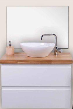 ארון אמבטיה תלוי דגם אוסקר בוצ'ר כולל כיור ומראה