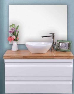 ארון אמבטיה תלוי דגם תומר בוצ'ר כולל כיור ומראה