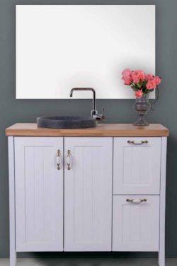 ארון אמבטיה אפוקסי עומד דגם מיכאל כולל כיור ומראה