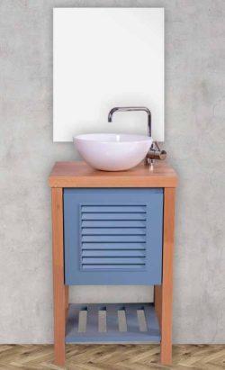 ארון אמבטיה עומד אירוס כולל כיור ומראה