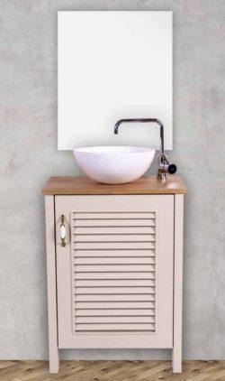 ארון אמבטיה עומד סחלב כולל כיור ומראה