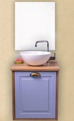 ארון אמבטיה תלוי פרג כולל כיור ומראה