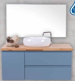 ארון אמבטיה תלוי דגם איתמר בוצ'ר כולל כיור ומראה