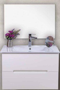 ארון אמבטיה אפוקסי תלוי דגם דולב כולל כיור ומראה
