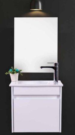 ארון אמבטיה תלוי כלנית כולל כיור ומראה