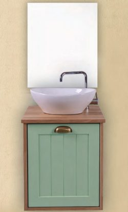 ארון אמבטיה תלוי ברוש כולל כיור ומראה