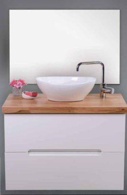ארון אמבטיה אפוקסי תלוי דגם דולב בוצ'ר כולל כיור ומראה