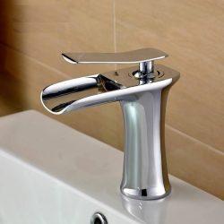 ברז אמבטיה HOPE קצר ניקל מבריק