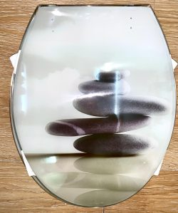 מושב אסלה אקרילי חלוקי נחל
