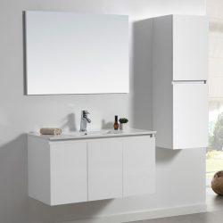 """ארון אמבטיה דגם CALO מידה 60 ס""""מ כולל כיור ומראה"""