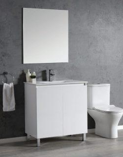 """ארון אמבטיה דגם CALO STAND  מידה 60 ס""""מ כולל כיור ומראה"""