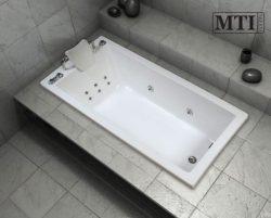 """אמבטיה מלבנית במידה מיוחדת 170*80 ס""""מ"""