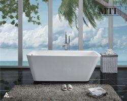 אמבטיה מלבנית FREE STAND לבנה