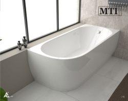 אמבטיה יוקרתית צמודה לקיר
